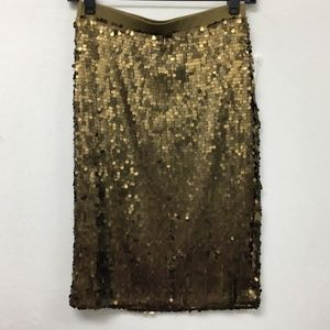 NWT New York & Company Old Brass Brown Sequins